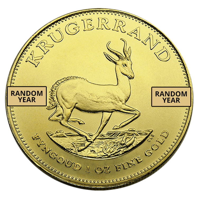 goldsilver.com - 1 oz South African Gold Krugerrand Coin Back