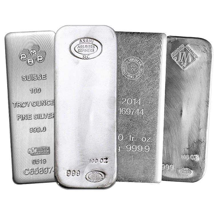 100 oz Silver Bars - Buy Online at GoldSilver®