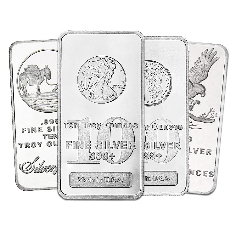10 Oz Silver Bars Buy Online At Goldsilver