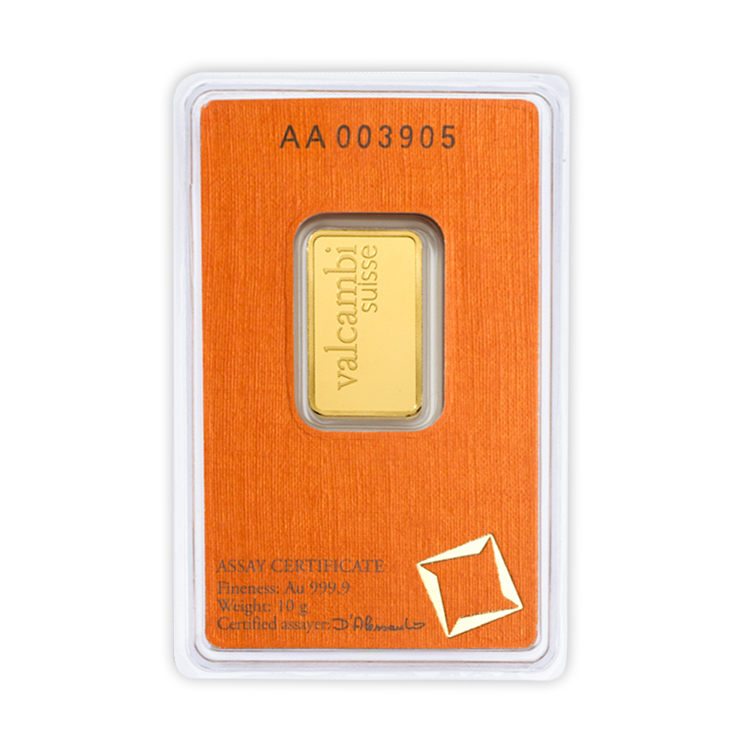 10 Gram Valcambi Gold Bar Buy Online At Goldsilver 174