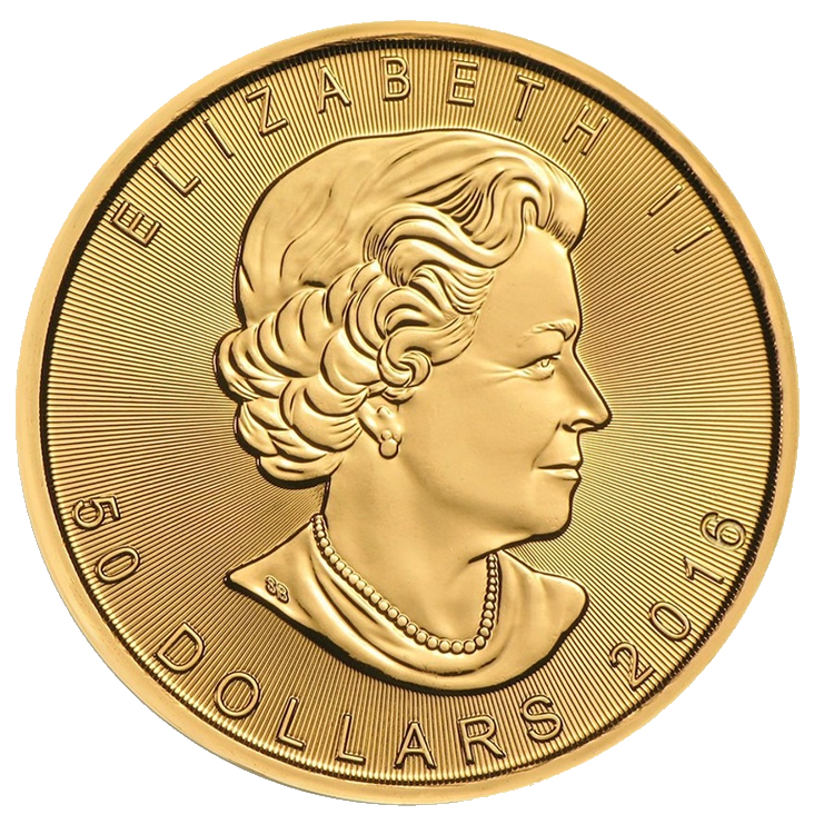 goldsilver.com - 1 oz Canadian Maple Leaf Gold Coin (2016) Front