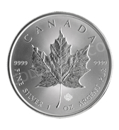 goldsilver.com - Canadian Silver Maple Leaf Coin 1 oz Back