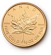 goldsilver.com - 2016 1/2 oz Canadian Gold Maple Leaf Coin Back