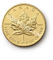 goldsilver.com - Canadian Gold Maple Leaf Coin 1 oz - 2015 Back