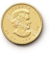 goldsilver.com - Canadian Gold Maple Leaf Coin 1 oz - 2015 Front