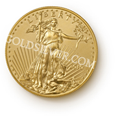 goldsilver.com - American Gold Eagle Coin 1/10 oz Front