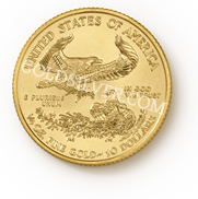 goldsilver.com - American Gold Eagle Coin 1/4 oz Back