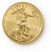goldsilver.com - American Gold Eagle Coin 1/4 oz Front