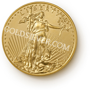 goldsilver.com - American Gold Eagle Coin 1 oz Front