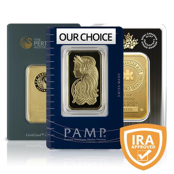 1 Oz Gold Bars For Sale Buy Online At Goldsilver 174