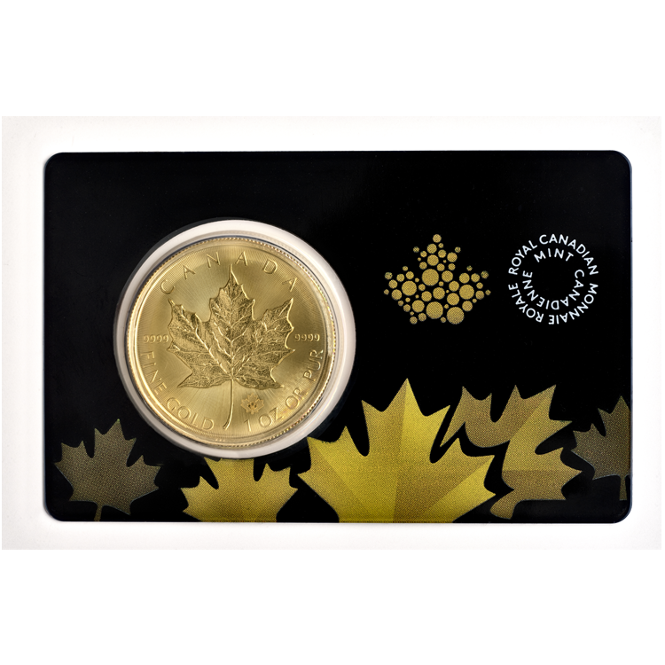 Gold Maple Leaf In Protective Film Buy Online At Goldsilver 174