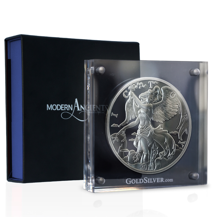 10 Oz Nike Silver Round Acrylic Case For Sale At Goldsilver 174
