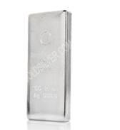 goldsilver.com - Royal Canadian Mint Silver Bar 100 oz Front