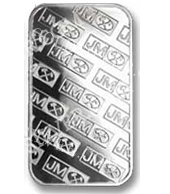 goldsilver.com - Johnson Matthey Silver Bar 1 oz Back