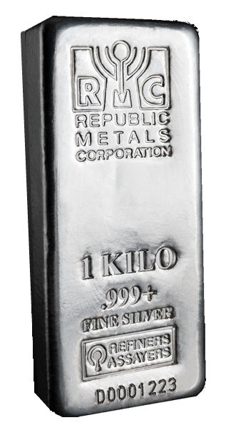 Republic Metals 1 Kilo Silver Bar Goldsilver Com