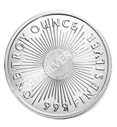 goldsilver.com - Sunshine Mint Silver Round 1 oz Back