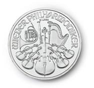 goldsilver.com - Austrian Silver Philharmonic Coin 1 oz Front