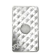 goldsilver.com - Sunshine Mint Silver Bar 10 oz Back