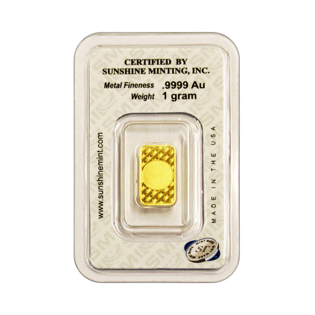 Sunshine Mint Gold Bar 1 Gram For Sale At Goldsilver 174
