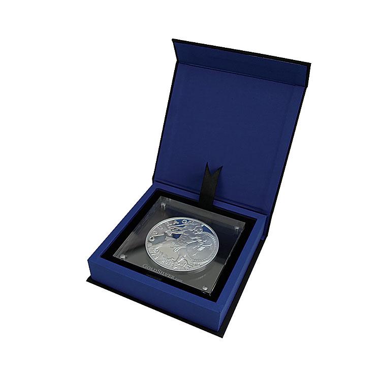 10 Oz Ajax Silver Round W Acrylic Case