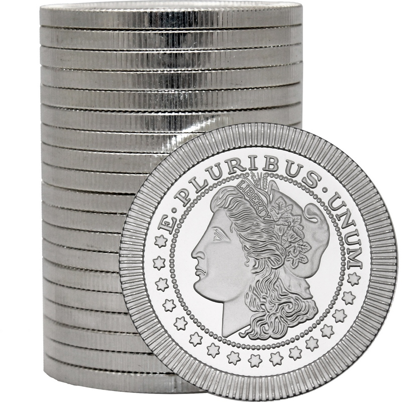 1 Oz Morgan Dollar Stackable Silver Round Buy Online At
