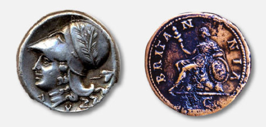 Early Britannia coins