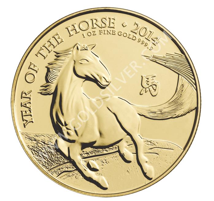 Uk Gold Lunar Horse Coin 1 Oz For Sale At Goldsilver 174