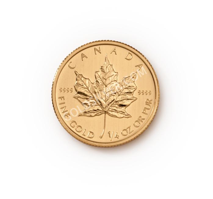 Canadian Gold Maple Leaf 1/4 oz - GoldSilver.com