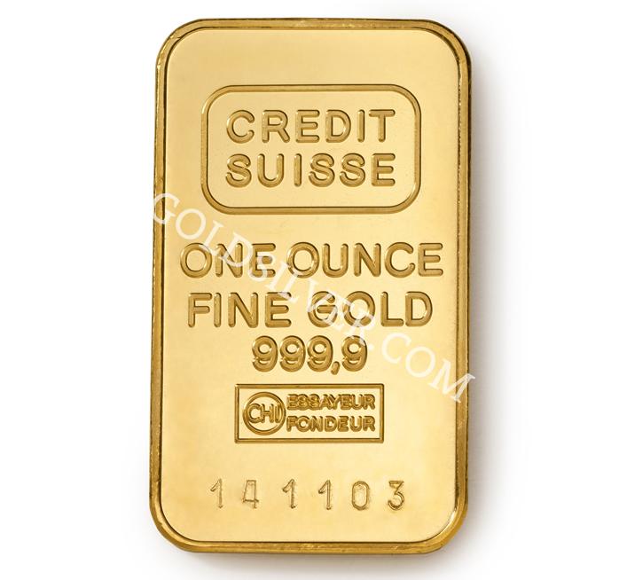 Credit Suisse Gold Bar 1 Oz Goldsilver Com