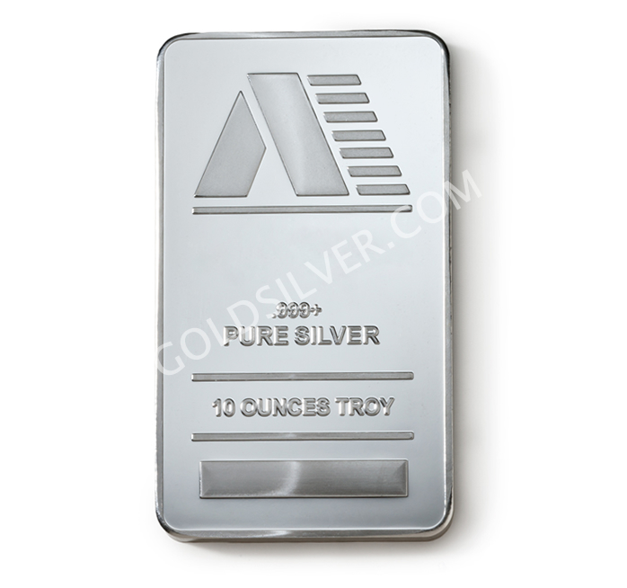 Silver Bar 10 Oz Goldsilver Com