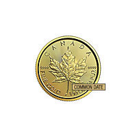 1/10 oz Canadian Maple Leaf Gold Coin (Common Date)