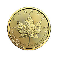 1/2 oz Canadian Gold Maple Leaf Coin (2017)
