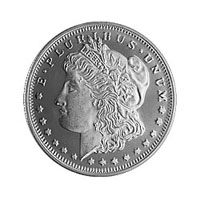 1/2 oz Morgan Silver Round