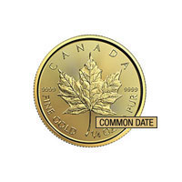 1/4 oz Gold Canadian Maple Leaf Coin