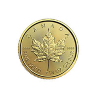1/4 oz Canadian Gold Maple Leaf Coin (2017)