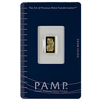 1 g PAMP Gold Bar - Suisse Lady Fortuna
