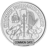 1 oz Austrian Silver Philharmonic Coin (Common Date)