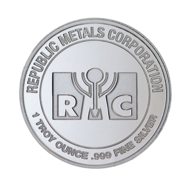 1 oz RMC Silver Round - Republic Metals Corporation