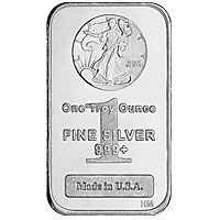1 oz Walking Liberty Silver Bar