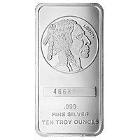 10 oz Buffalo Silver Bar