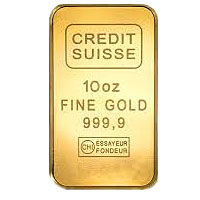 Buy Credit Suisse 10 Ounce (oz) Gold Bars
