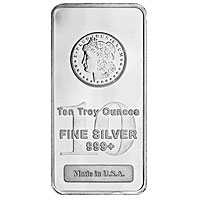 10 oz Morgan Silver Bar