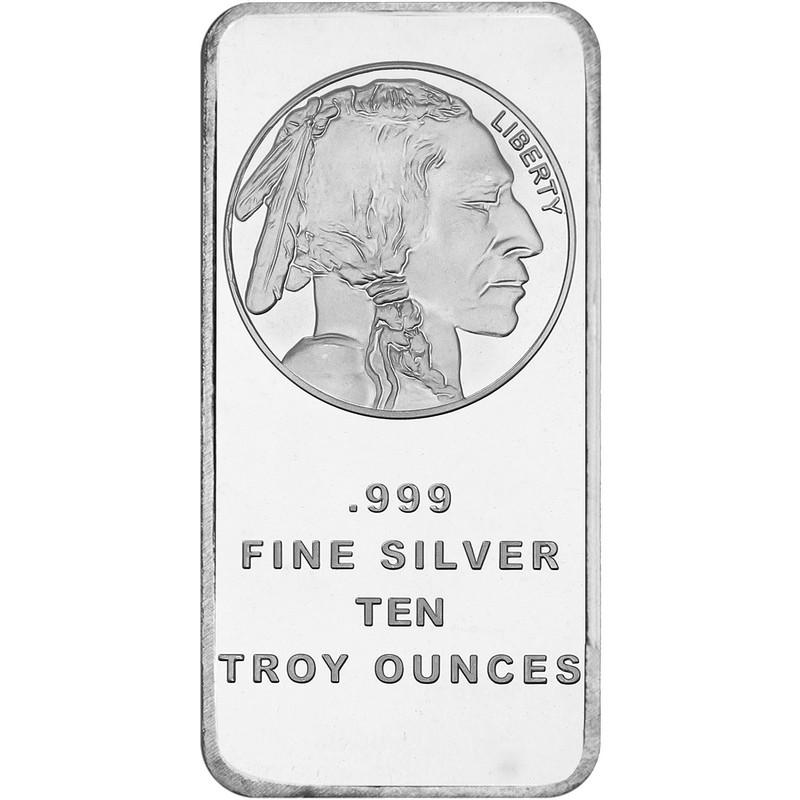 10 oz Buffalo Silver Bar