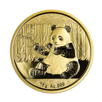 15 g Chinese Gold Panda Coin (2017) - Front View
