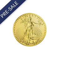 1/10 oz American Gold Eagle Coin (2017) - Front View