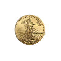 1/10 oz American Gold Eagle Coin (Our Choice) - Front View