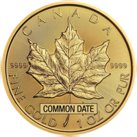 1 oz Canadian Gold Maple Leaf Coin (Common Date)