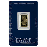 2.5 g PAMP Gold Bar - Suisse Lady Fortuna