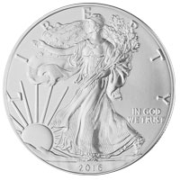 2016 American Silver Eagle Coin - Small View