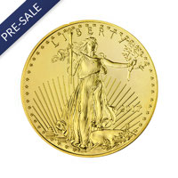 1/2 oz American Gold Eagle Coin (2017) - Front View